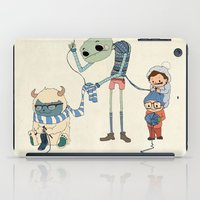 knitting iPad Cases featuring Knitting Train by Michael Mossner