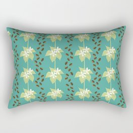 Coffee Bean Dreams (in Teal) Rectangular Pillow