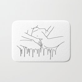 Colorful Climax line - Erotic Art Illustration Nude Sex Sexual Love Lovers Relationship Couple Bath Mat