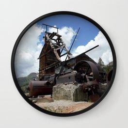 Longfellow Mine - Headstaff and Compressor Engine Wall Clock