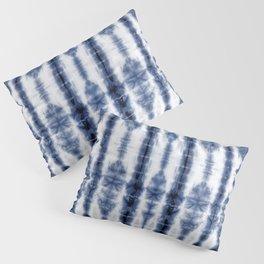 Tiki Shibori Blue Pillow Sham