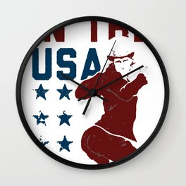 PARTY IN THE USA UNCLE SAM T-SHIRT Wall Clock