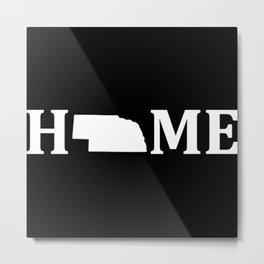Nebraska Is Home USA State Pride Metal Print