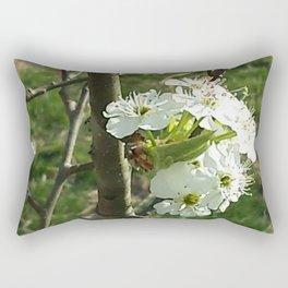Pear Blossoms Rectangular Pillow