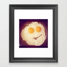 smiley egg Framed Art Print
