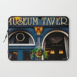 Museum Tavern - London Architecture - Bistro Cafe Facade in Blue Laptop Sleeve
