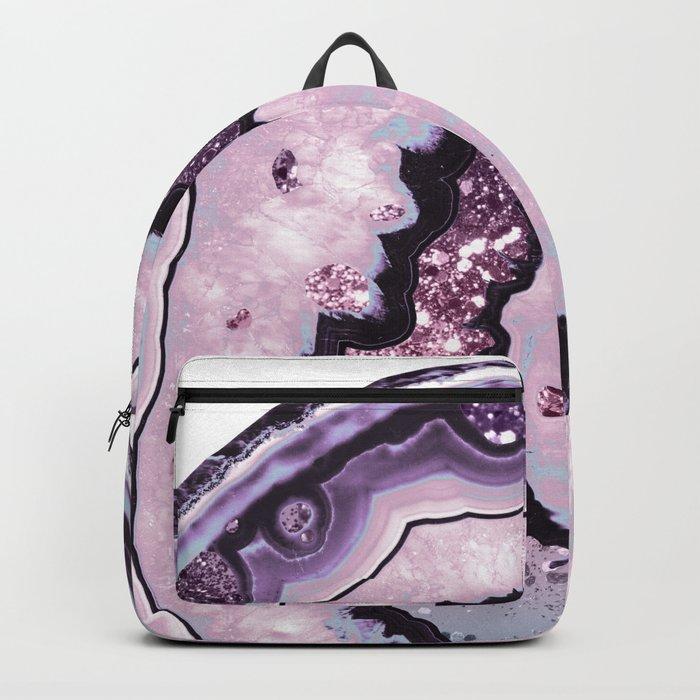 29b5b79ebeb5 Unicorn Girls Glitter Agate  1  gem  shiny  pastel  decor  art  society6  Backpack