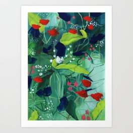 Buffalo Wildflowers - 5 Art Print