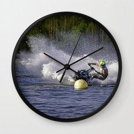 Jet ski on water Wall Clock