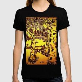 Golden Mountain Sunset - T-shirt