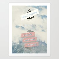 When I was young, I had a vision - Typographic Poster Art Print