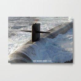 USS MAINE (SSBN-741) Metal Print