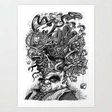 Headgames Art Print