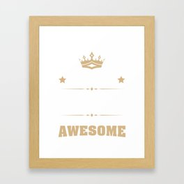 April 1950 68 years of being awesome Framed Art Print