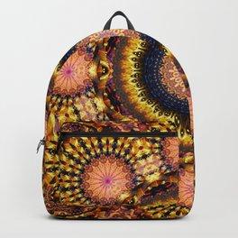 Golden Star Burst Mandala Backpack