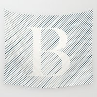 striped Wall Tapestries featuring Striped B by DLUTED DESIGN
