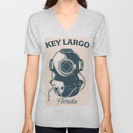 Key Largo Flordia Unisex V-Neck