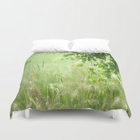 birch Duvet Covers featuring Birch leaves by Tanja Riedel