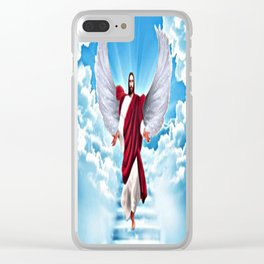 Lord In Heaven Clear iPhone Case
