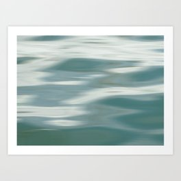 Abstract wave and light Art Print