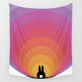 Bunny Rabbit Sunrise Wall Tapestry