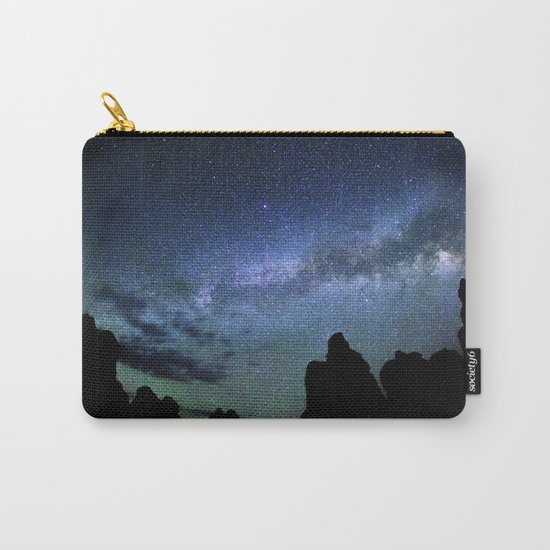 Milky Way Mountains Silhouette Carry-All Pouch