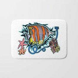 Electric Butterflyfish Bath Mat