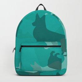 Blue Corgi Pattern Backpack