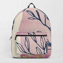 Floral Dream Series - Watercolor, Ink & Gold Backpack
