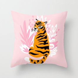 Cute tigers Throw Pillow