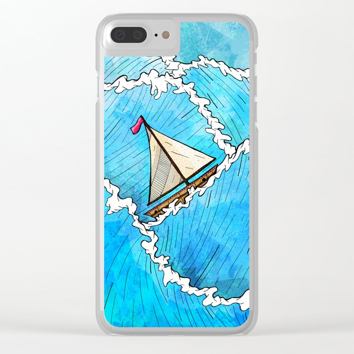 Let's Go Sailing Clear iPhone Case