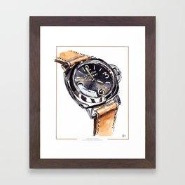 Panerai Adventures, LUMINOR PANERAI special edition watch illustration print Framed Art Print