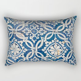 Vintage portuguese azulejo Rectangular Pillow