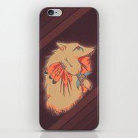 headdress iPhone & iPod Skins featuring Headdress by dezfez
