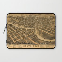 Aerial View of South Bend, Indiana (1874) Laptop Sleeve