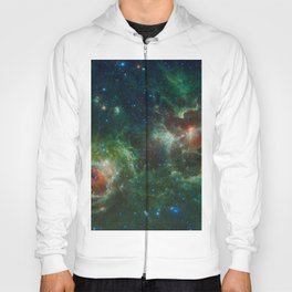 Hubble Space Photograph - Heart and Soul Nebulae Hoody