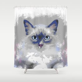 Cat 639 Shower Curtain