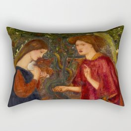 "Edward Burne-Jones ""The Annunciation"" Rectangular Pillow"