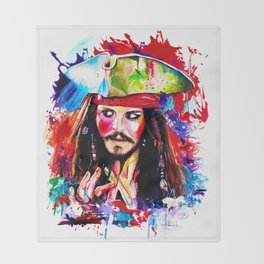 Captain Jack Sparrow Throw Blanket