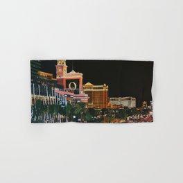 Las Vegas Strip Oil On Canvas Hand & Bath Towel