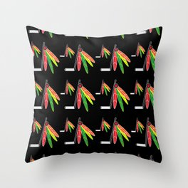Hockey Colors Throw Pillow