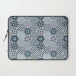 Spanish Tiles of the Alhambra - Gray & dark Aquamarine Laptop Sleeve