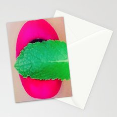 Phoenix Mint Lips Stationery Cards
