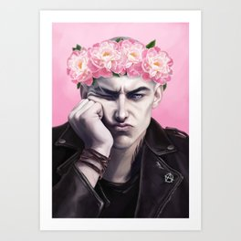 Flower Crown Ronan Art Print