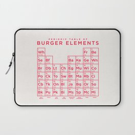 Periodic Table of Burger Elements - Ivory Laptop Sleeve
