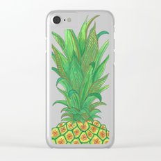 Geometric Pineapple Clear iPhone Case