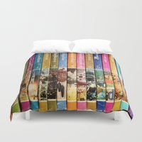 books Duvet Covers featuring Books by christennoelle