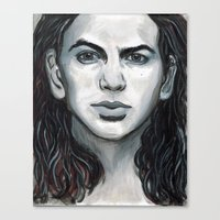 eddie vedder Canvas Prints featuring Vedder by Emily Morris