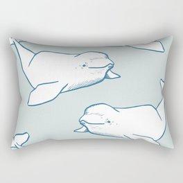 White Beluga Whale Rectangular Pillow