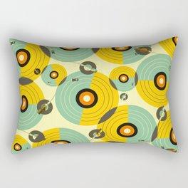 Turntables (Yellow) Rectangular Pillow